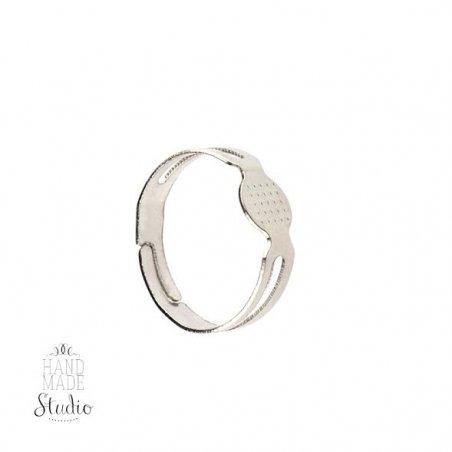 Основа для кольца, цвет - сталь