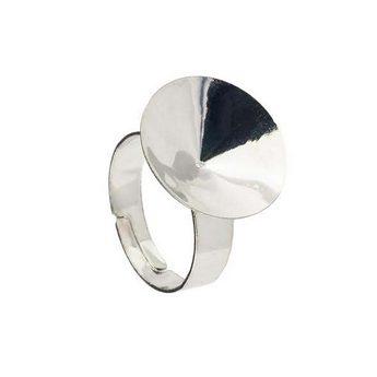 Основа для кольца с  площадкой, цвет сталь  d 15 мм