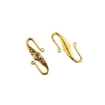 Застежка крючок, цвет античное серебро