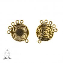 Коннектор круглый, 6 отверстий,  цвет - античное золото