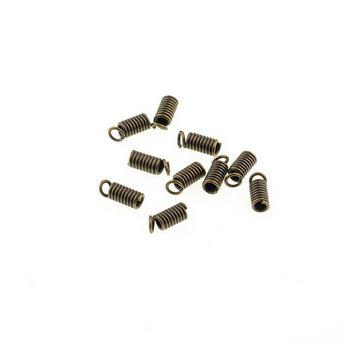 Зажим-пружинка для шнура 3 мм, цвет - бронза