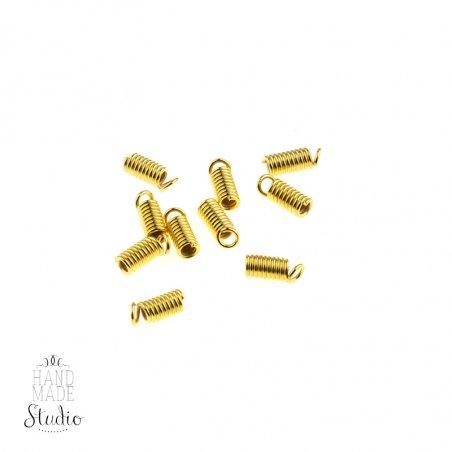 Зажим-пружинка для шнура 3 мм, цвет - золото