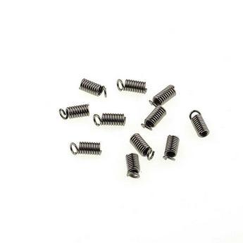 Зажим-пружинка для шнура 3 мм, цвет - черный