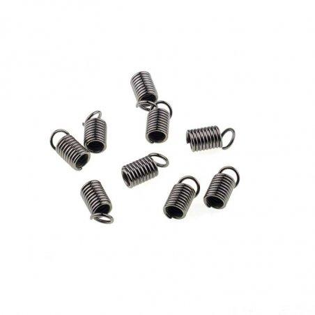 Зажим-пружинка для шнура 4 мм, цвет - черный