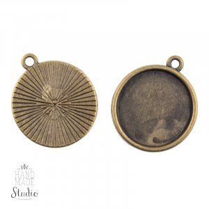 Основа для декорировани, 23 мм, цвет бронза
