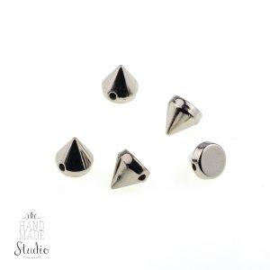 Шипы круглые пришивные, цвет серебро, 0,7 см