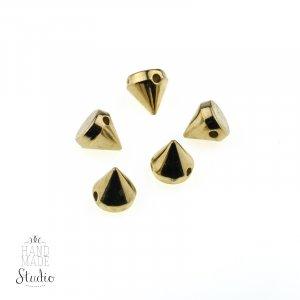 Шипы круглые пришивные, цвет золото, 0,7 см