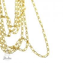№28  Цепь с плетением  Фигаро, цвет - золото