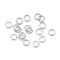 Соединительные кольца усиленные, цвет - серебро 0,8 см