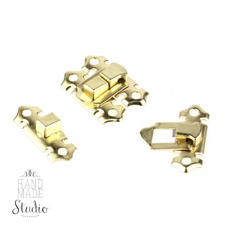 Замок металлический А-018, цвет золото, 3,5х2,3 см