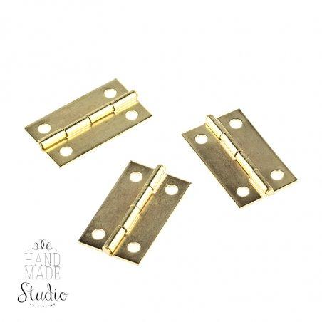 Завеса для шкатулки складывающаяся B-037, цвет золото, 1,8*3 см