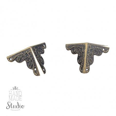 Уголок  декоративный металлический  С-409, цвет бронза 2,5х2,5 см,