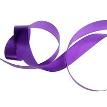 Атласная лента, цвет фиолетовый, 7мм