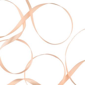 Атласная лента, цвет персиковый, 7мм