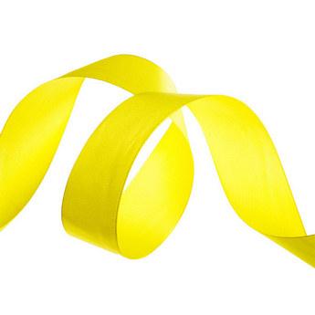 Атласная лента, цвет желтый, 50 мм