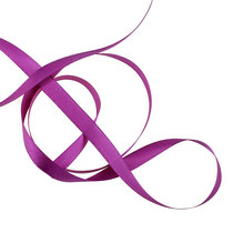 Атласная лента, цвет фиолетовый, 12мм, 1м.