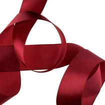 Атласная лента, цвет бордовый 50 мм, 1м.