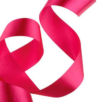 Атласная лента, цвет насыщенный розовый 50 мм