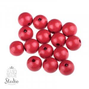 Пластиковые бусины, цвет темно-красный,1 см, №20