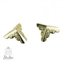 Уголок декоративный металлический С-409, цвет золото 2,5х2,5 см,