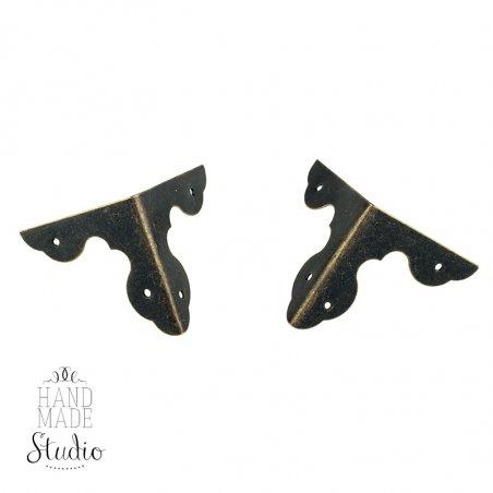 Уголок  декоративный металлический  С-076, цвет старая латунь 3,1 см,