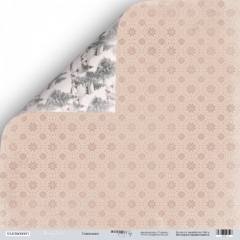 "Лист двусторонней бумаги 30x30 ""Снежинки из коллекции Shabby Winter"""
