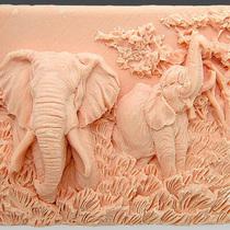 """Форма-элит для мыла """"Слоны"""" 2D"""