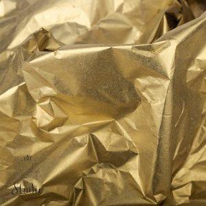 Бумага тишью, цвет - темный золотой