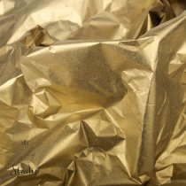 Бумага тишью, цвет -  золотой (металлизированная с одной стороны), 50х70 см, 1 лист