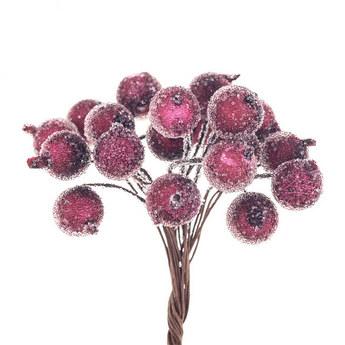 Ягода декоративная калина сахарная, цвет бордовый
