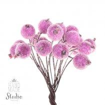 Ягода декоративная калина сахарная, цвет розовый