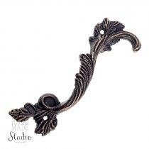 Ручка металлическая С-174, цвет бронза 8,8х2,5 см (1шт.)
