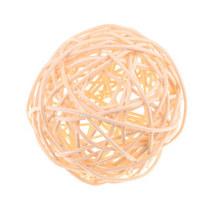 Шарик из ротанга, цвет персиковый, 7 см.