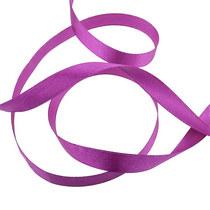 Атласная лента, цвет пурпурный, 12 мм, 1м.