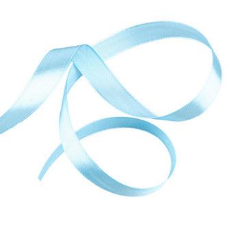 Атласная лента, цвет голубой, 12мм