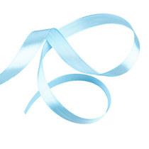 Атласная лента, цвет голубой, 12мм, 1м.