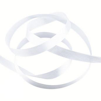 Атласная лента, цвет белый №47, 12мм