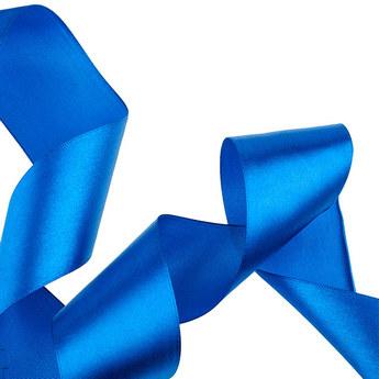 Атласная лента, цвет синий, 50 мм