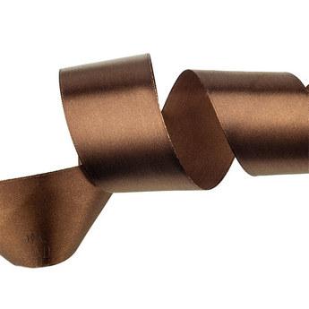 Атласная лента, цвет шоколадныйй, 50 мм