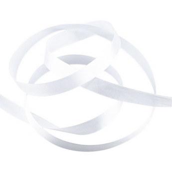 Атласная лента, цвет белый №10, 15мм