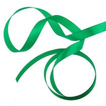 Атласная лента, цвет зеленый, 7мм