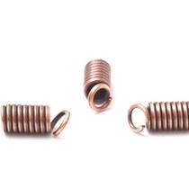 Концевик-пружинка для шнура, 10х4,5мм,  цвет медь, 2 шт