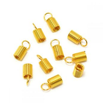 Концевик-пружинка для шнура, цвет медь