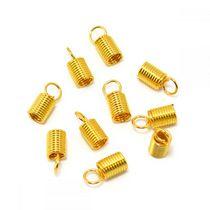 Концевик-пружинка для шнура, 10х4,5мм, цвет золото, 2 шт