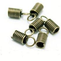 Концевик-пружинка для шнура, 10х4,5мм, цвет бронза, 2 шт