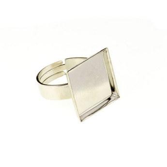 Основа для кольца с квадратной платформой, сталь 16х16 мм