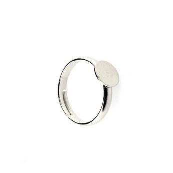 Основа для кольца с платформой 0,8 см, цвет - сталь
