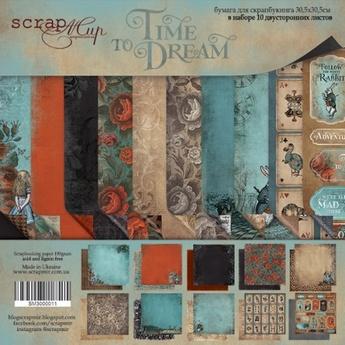 Набор двусторонней бумаги 30х30см от Scrapmir Time to Dream(eng.) 10шт
