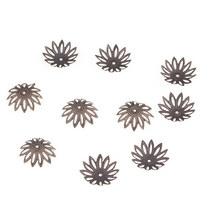 №20 Обниматели для бусин большие ажурные, цвет - бронза, 10 шт