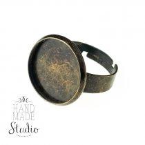 Основа для кольца 1,6 см, цвет - бронза